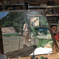 Rechte Seite mit Diorama